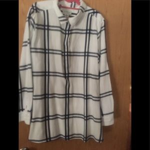 Women's xxl half button tunic